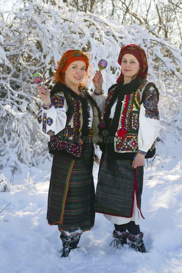 Gutsulka onder de wintersneeuw royalty-vrije stock afbeelding