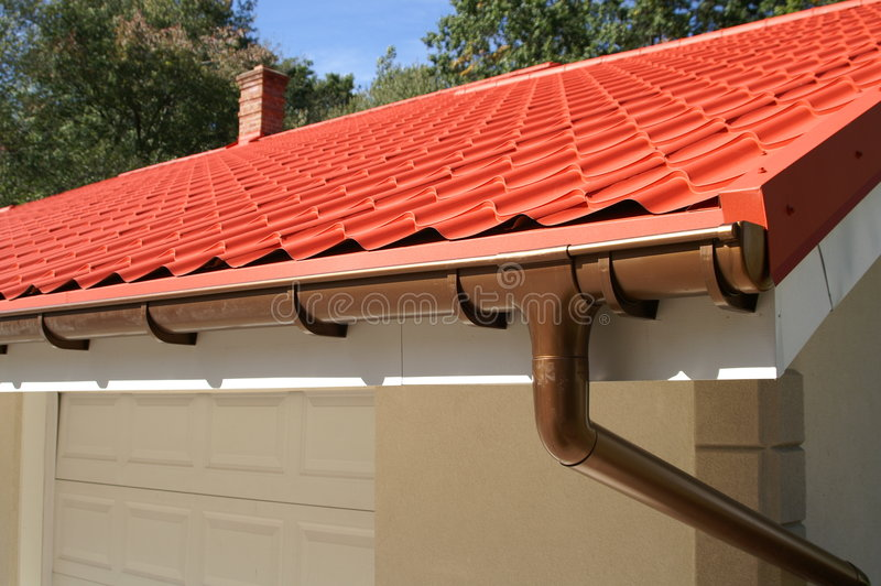 Gutter system royalty free stock photos