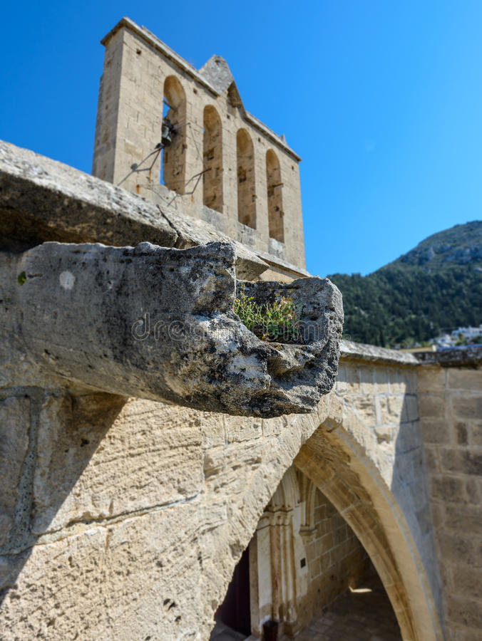 Guttering on the 13th century Gothic monastery at Bellapais,northern cyprus 7 royalty free stock images