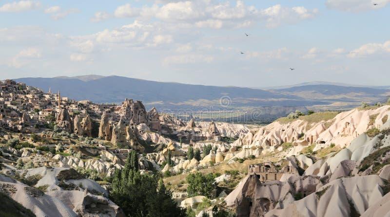 Guvercinlik Valley in Goreme, Cappadocia. Guvercinlik Valley in Goreme Town, Cappadocia, Turkey royalty free stock photography