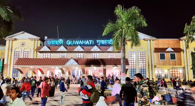 Guwahati järnvägsstation royaltyfri fotografi