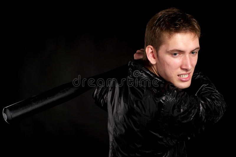 Download Guy with a baseball bat stock photo. Image of adult, criminal - 15783862