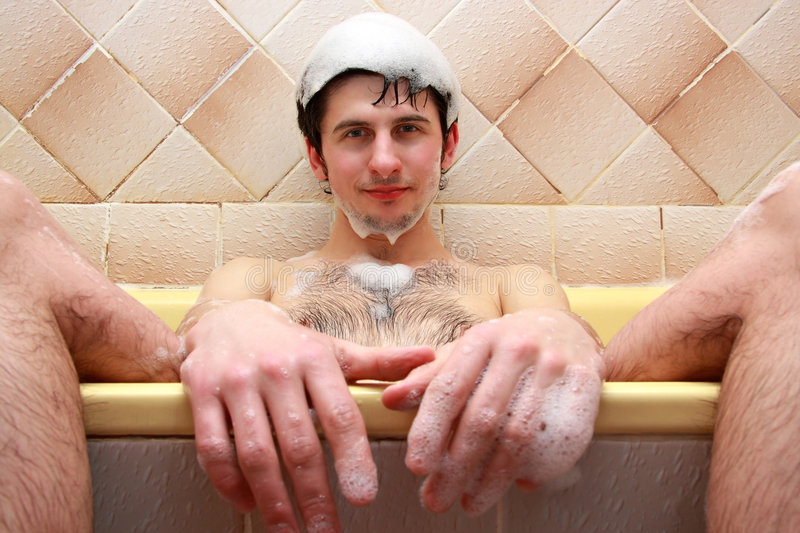 Download Guy At The Bath Stock Image. Image Of Water, Body, Bathhouse