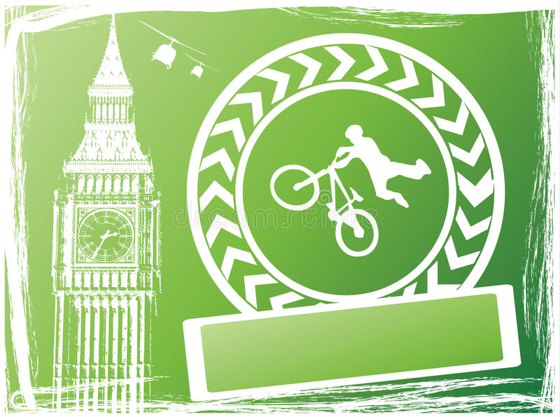 Download Guy with bmx stock vector. Illustration of london, ground - 12278679