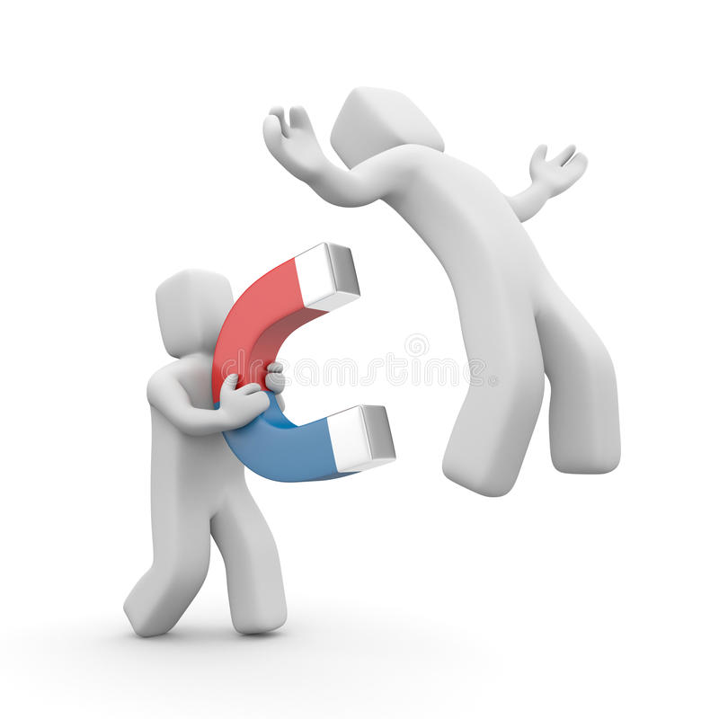 Download Guy Capturing With Magnet Other Guy Stock Illustration - Image: 32235811