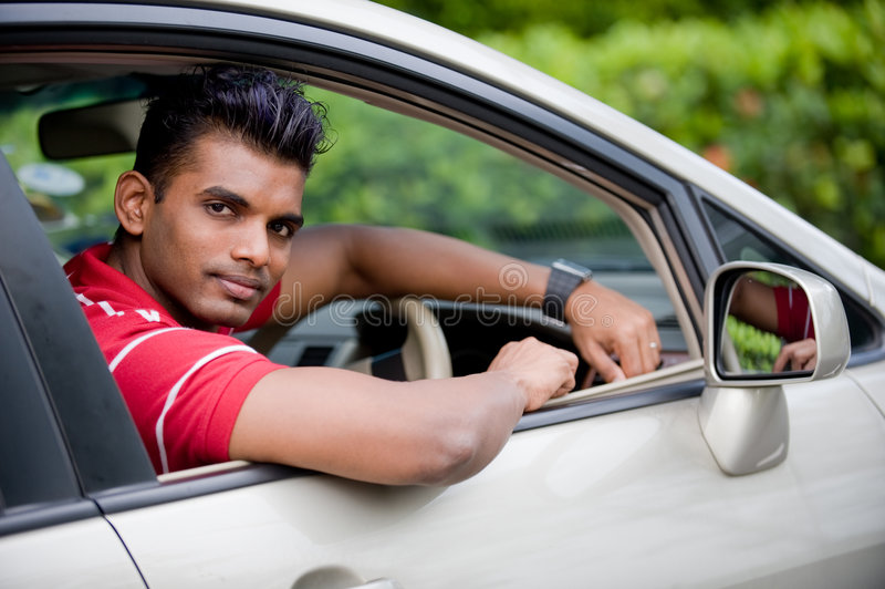 Download Guy In Car stock photo. Image of shirt, adult, handosme - 3879974