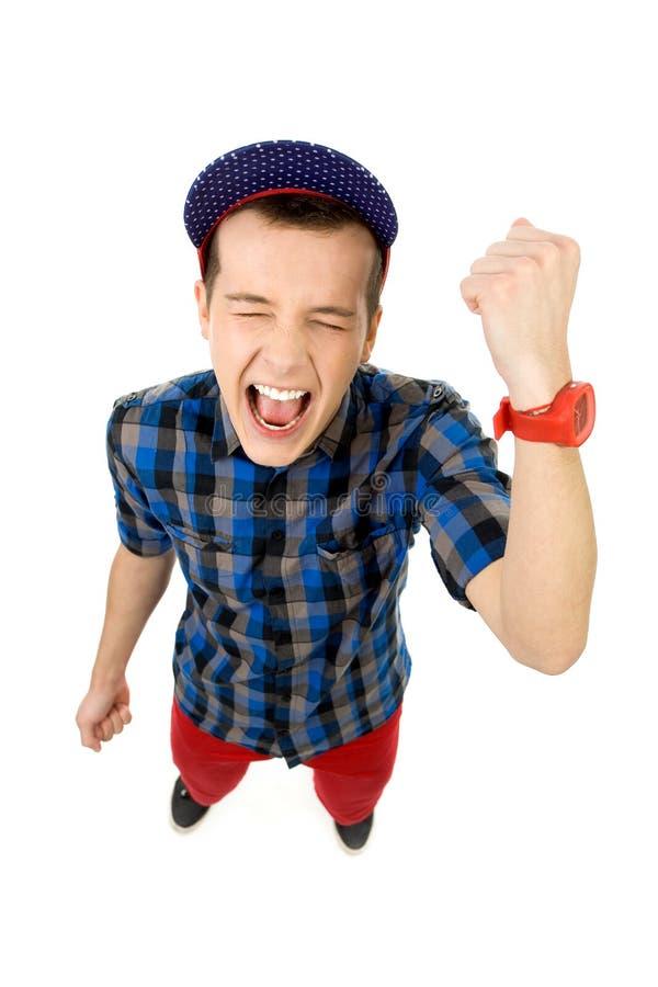 Download Guy clenching fists stock photo. Image of enjoying, length - 23398792