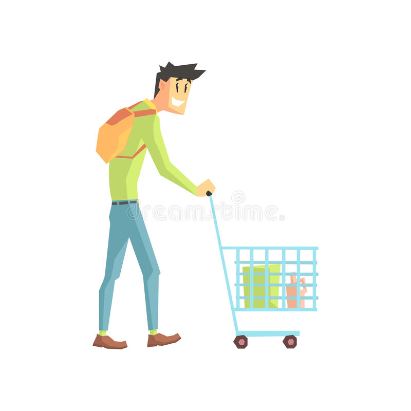 Guy Doing Grocery Shopping libre illustration