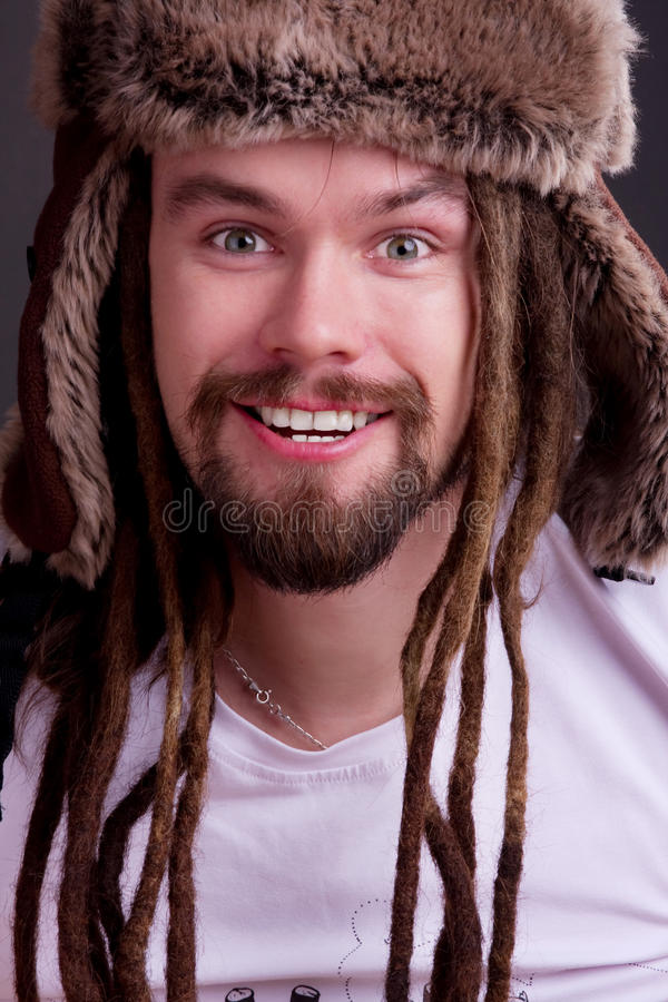 Guy With Dreadlocks Stock Images