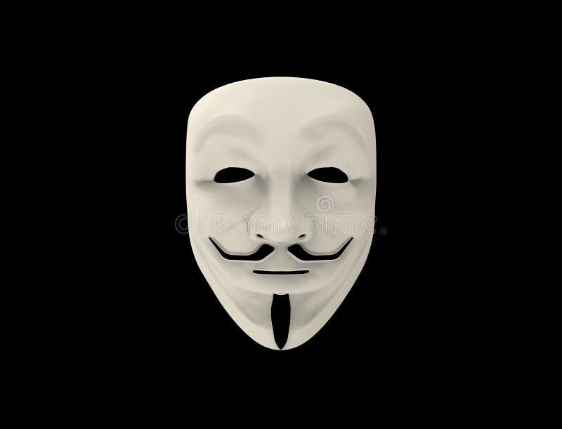Guy Fawkes, Anonimowa maska odizolowywaj?ca/ royalty ilustracja
