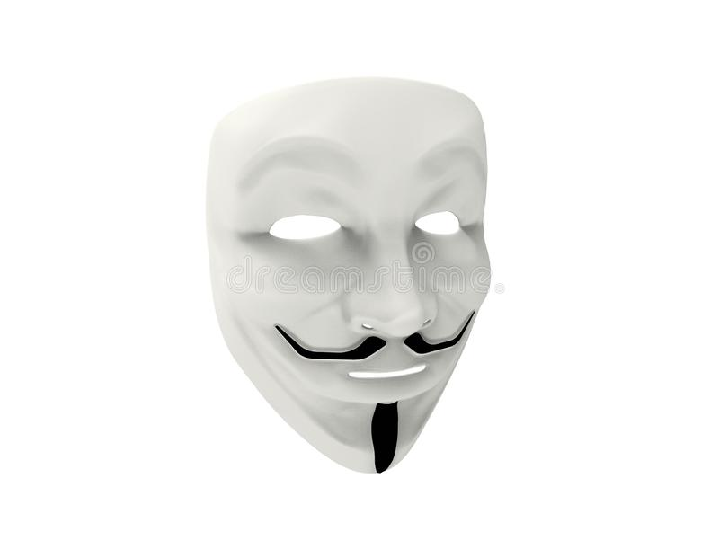 Guy Fawkes/isolerad anonym maskering vektor illustrationer