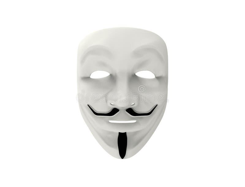 Guy Fawkes/isolerad anonym maskering royaltyfri illustrationer