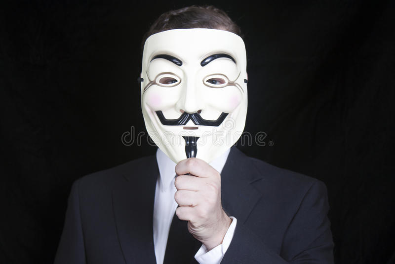 Guy Fawkes Mask imagem de stock royalty free