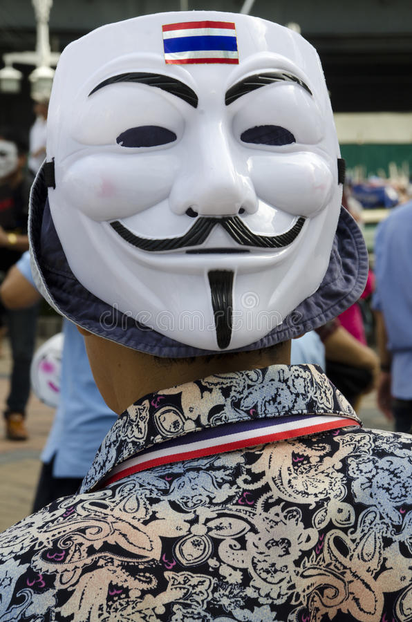 Guy Fawkes mask with Thai Flag