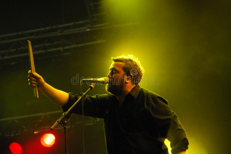 Download Guy Garvey of Elbow editorial image. Image of manchester - 10106990