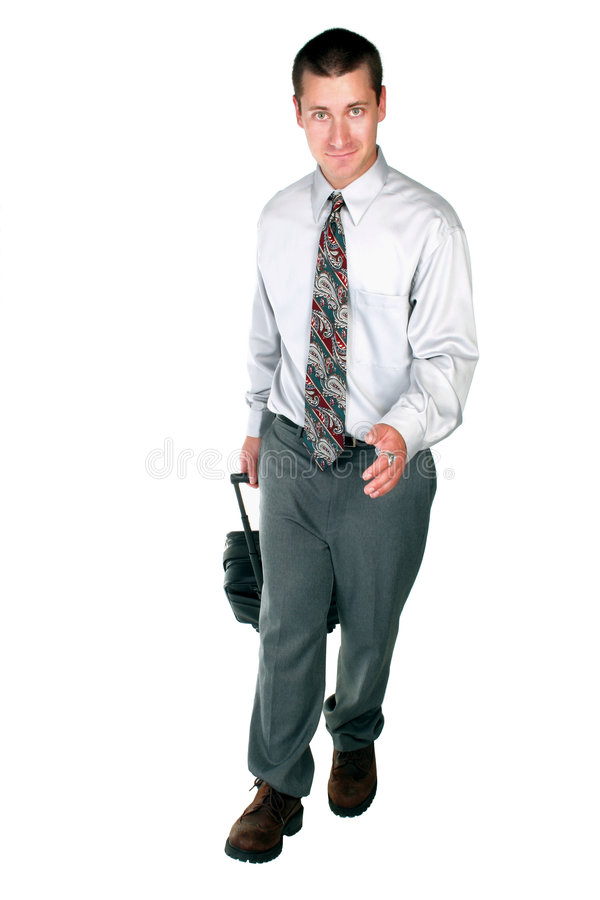 Guy getting ahead royalty free stock photography
