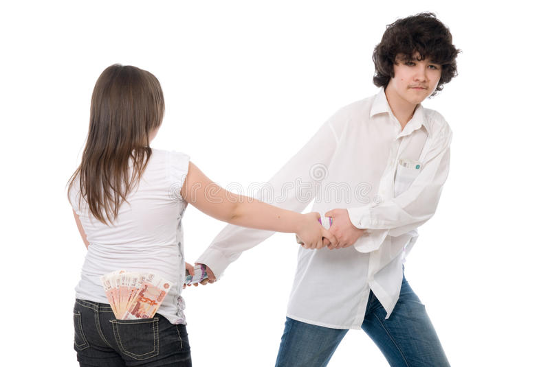 Guy and girl can t divide money