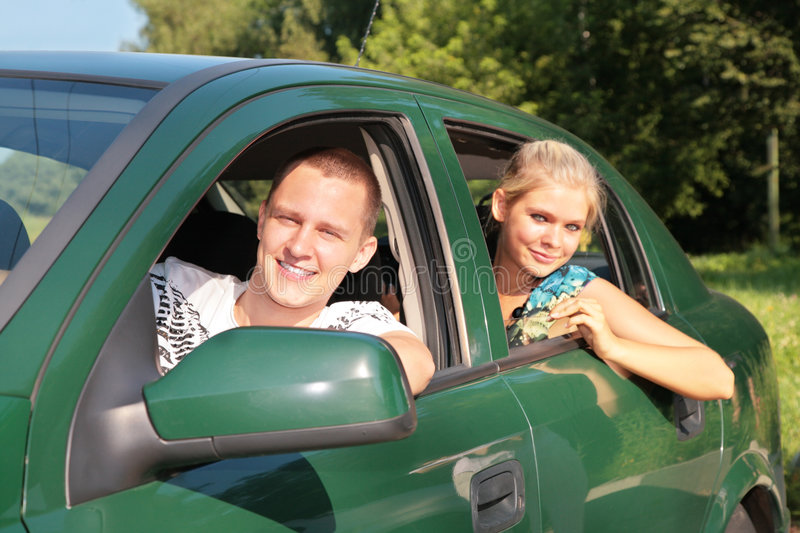 Download Guy and girl in car stock image. Image of friends, drive - 6790365