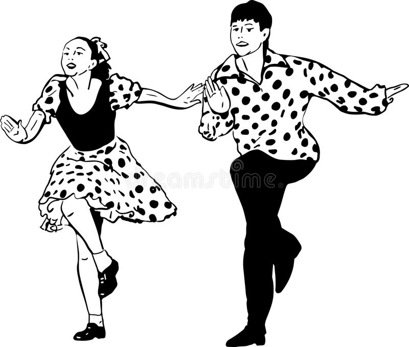 Dancing Rock Roll Stock Illustrations 1306 Dancing Rock