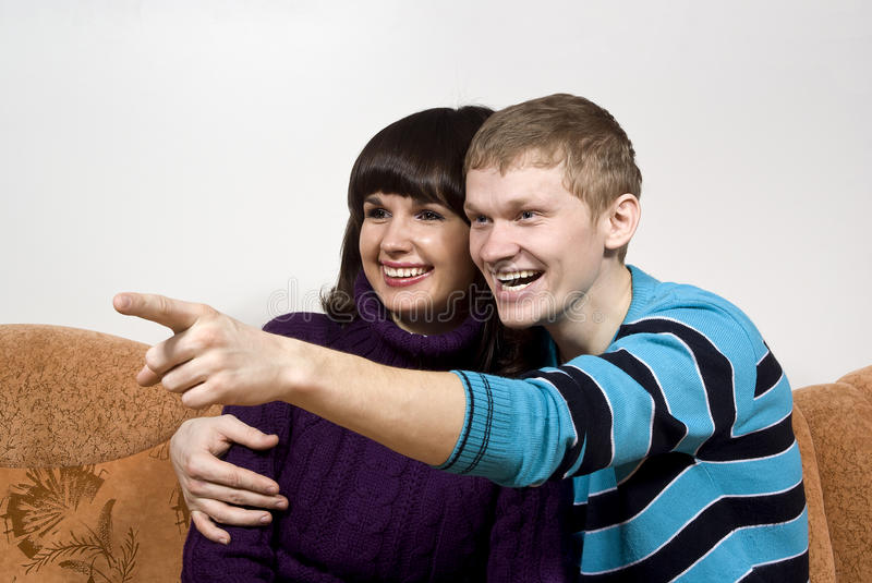 Download The Guy With The Girl Pointed In The Direction Of Stock Image - Image of adolescents, couple: 23589707