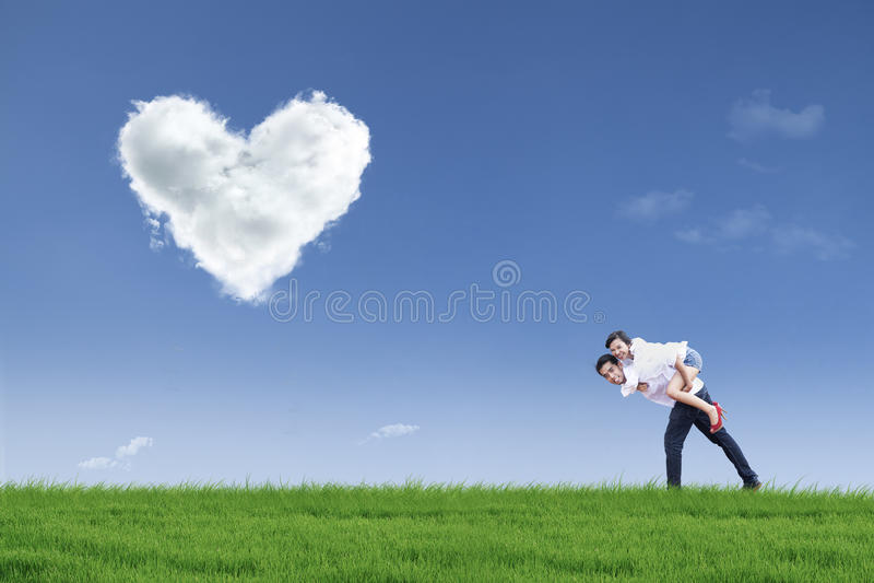 Download Guy Giving Girl Piggyback Ride On Valentine Stock Image - Image: 27952403