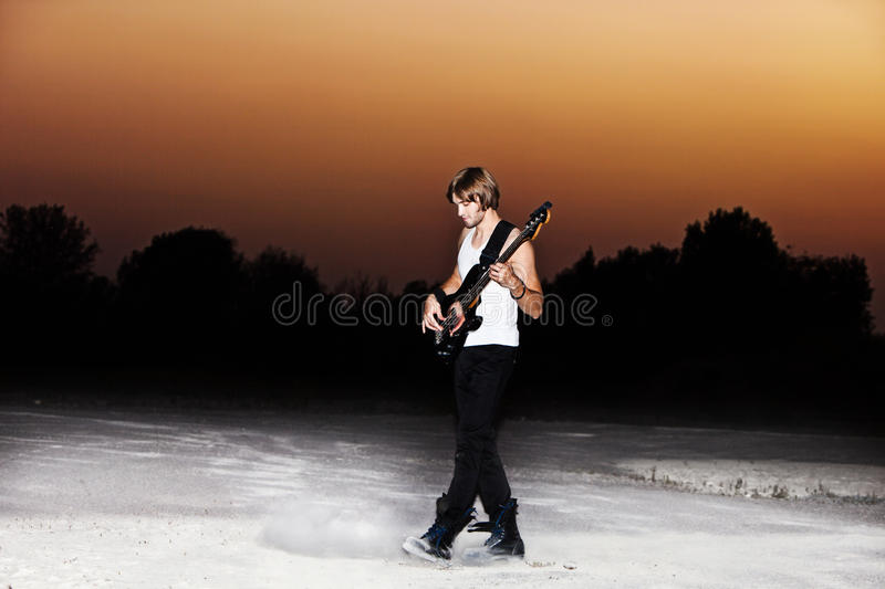 Guy With Guitar Stock Photo