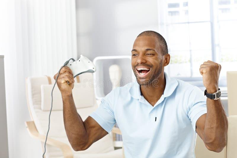Download Guy Happy Winning Computer Game Stock Photo - Image: 23376260