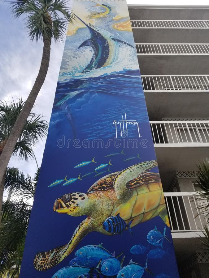 Guy Harvey inspired tank royalty free stock photo