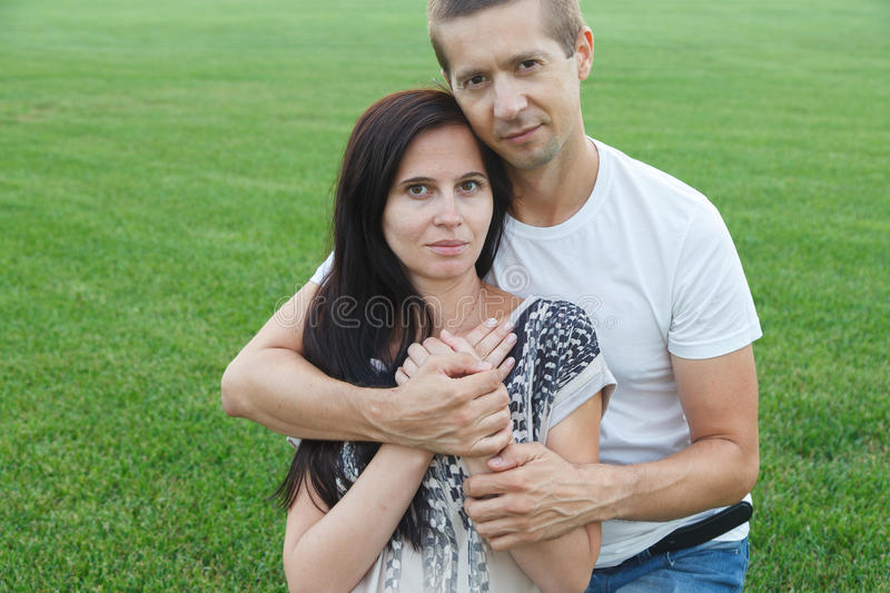 Guy and his girl stock image
