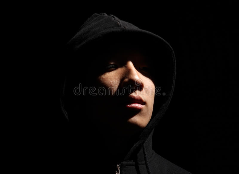 Download A guy in a hood stock photo. Image of high, monochrome - 20224612