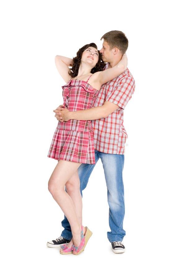 Girl Guy Makeup Youtube: Guy Hugs The Girl Behind. Stock Image. Image Of Length