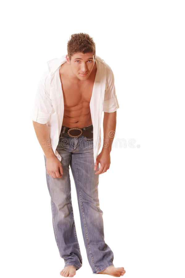Download Guy inclines forward stock photo. Image of white, male - 12129102