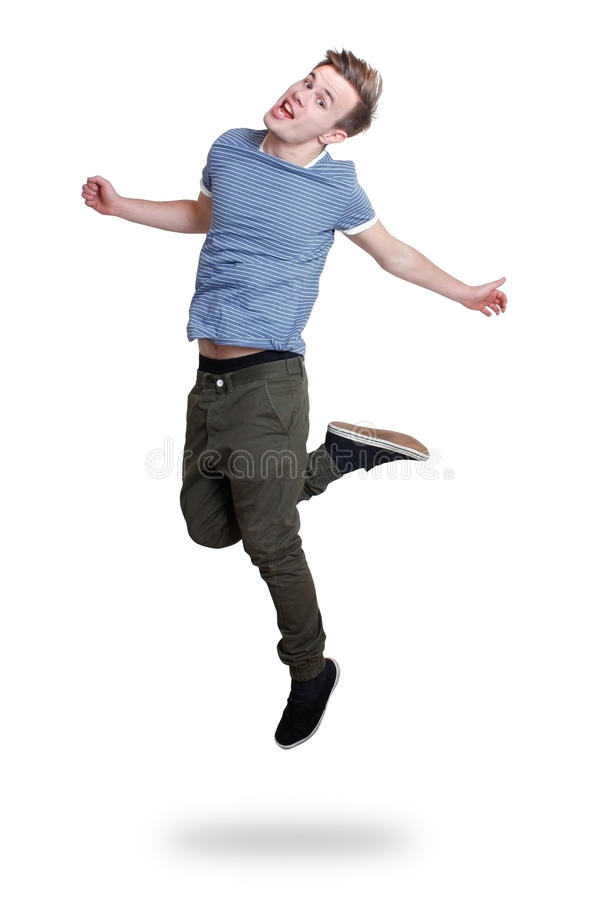 Download Guy jumping stock image. Image of motion, jump, happiness - 17974665