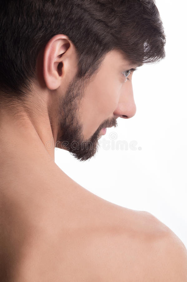 Guy looking away stock photography