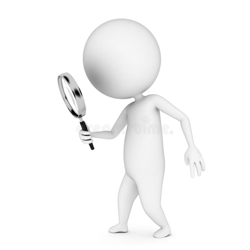 Download Guy With A Magnifier Royalty Free Stock Images - Image: 20059519