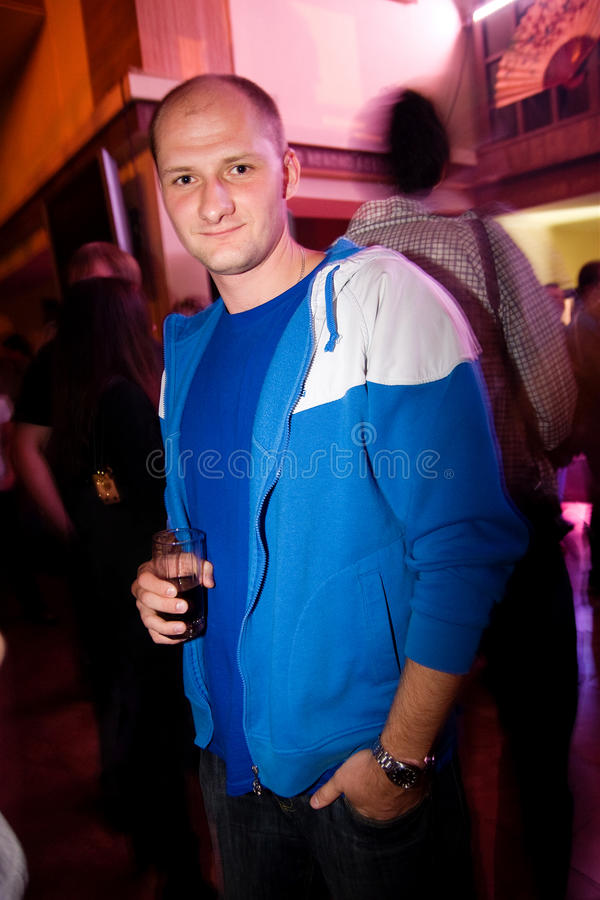 Guy In The Nightclub Royalty Free Stock Photo