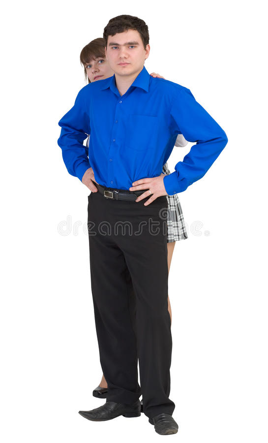 Download Guy protects the woman stock photo. Image of person, defender - 11117140