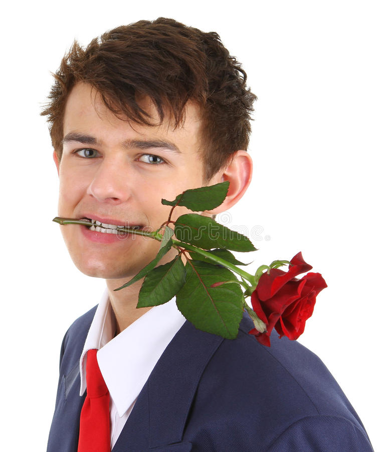 Guy With Rose Royalty Free Stock Image