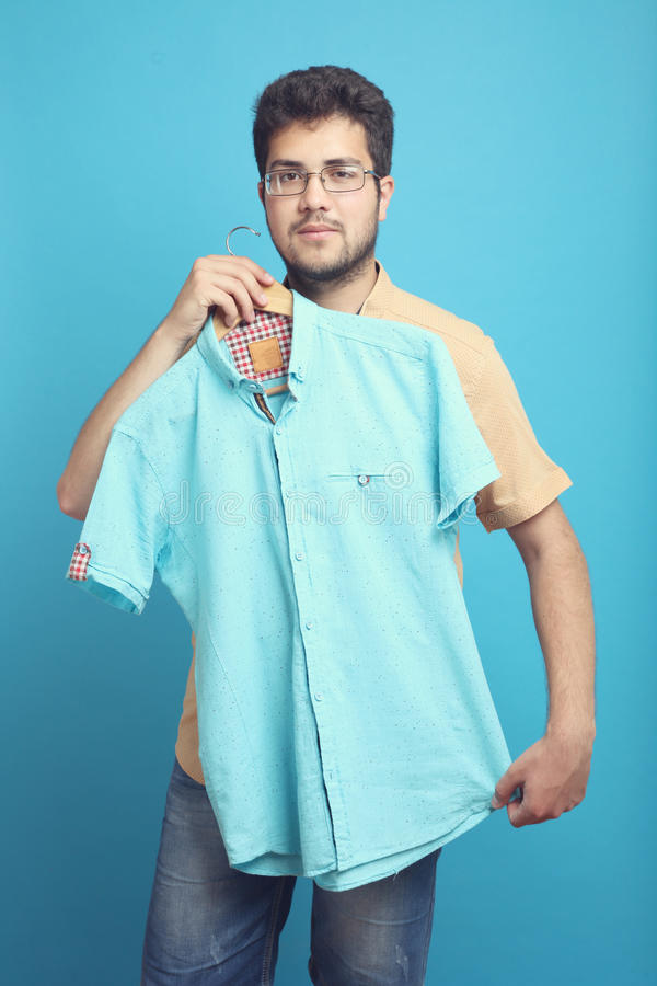 The guy with the shirt royalty free stock images