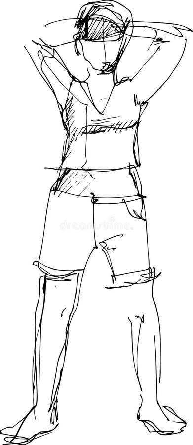 Download Guy in shorts stock illustration. Illustration of lying - 15798369
