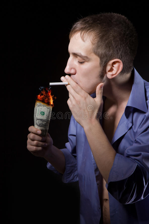 Download Guy Smokes Royalty Free Stock Photo - Image: 19865065