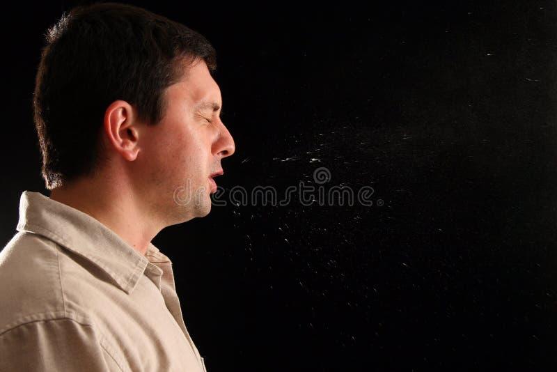 Guy sneezing royalty free stock photos