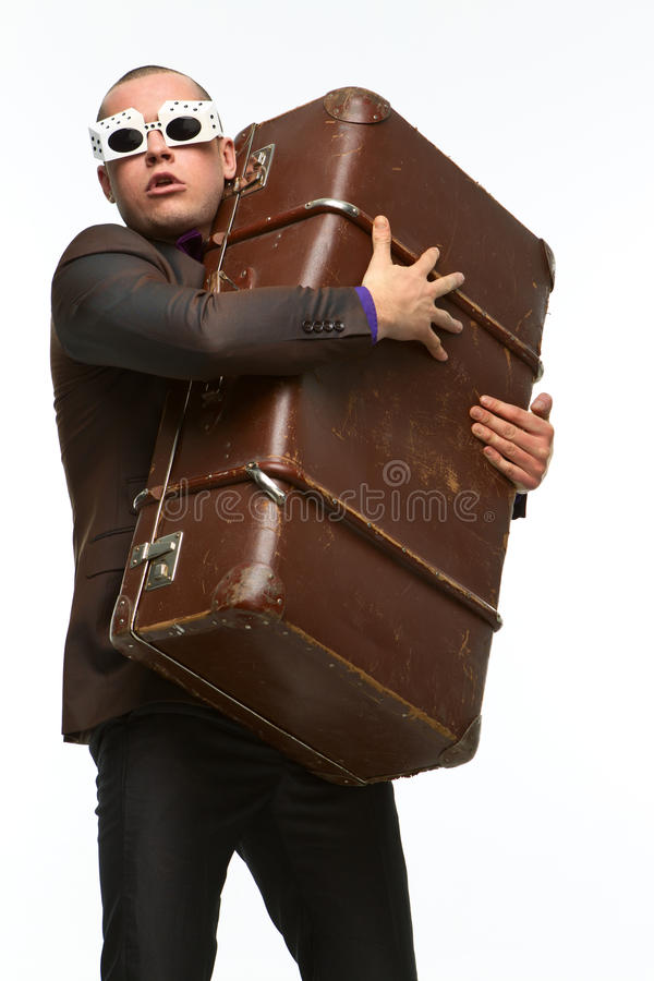 Download Guy with suitcase stock image. Image of tourism, traveling - 24834977