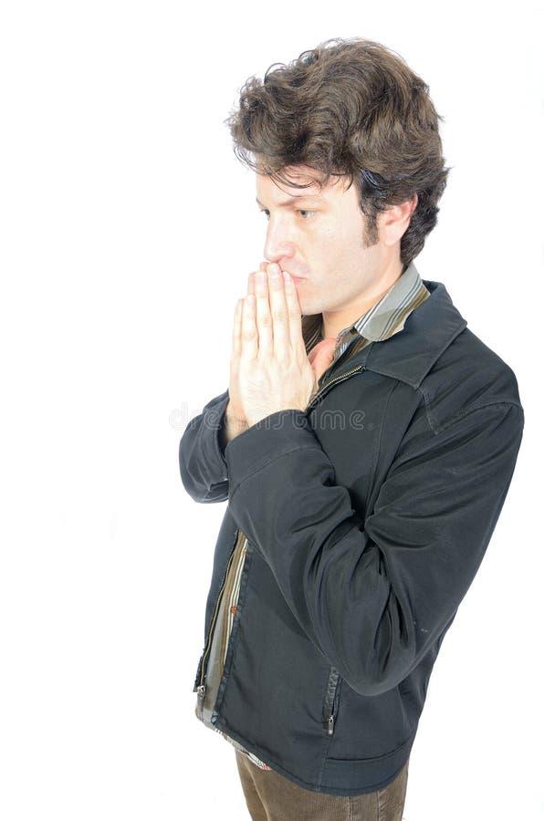 Guy Thinking stock image