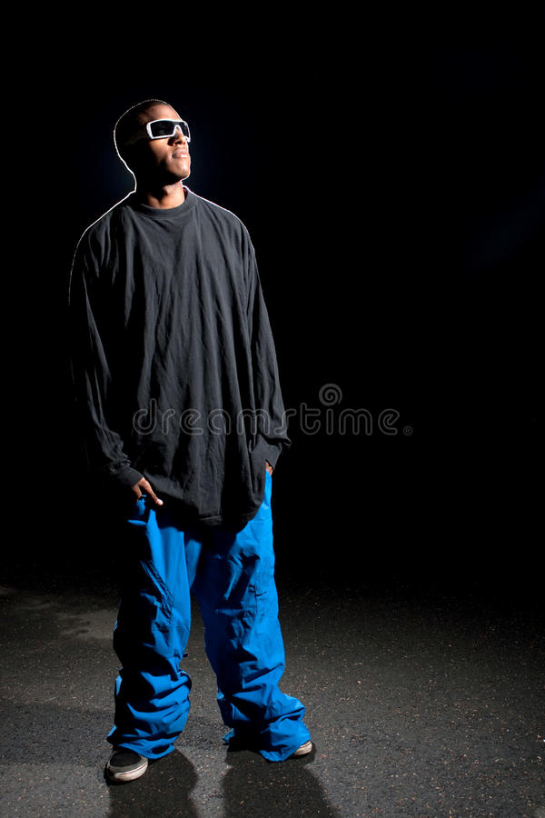 Guy Wearing Baggy Clothes royalty free stock images