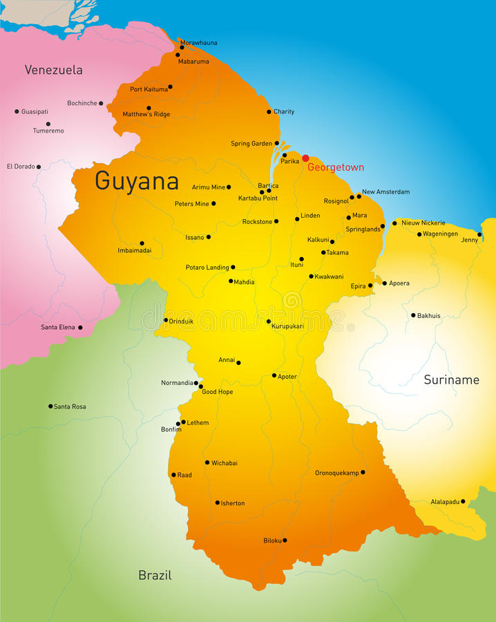guyana vector illustratie