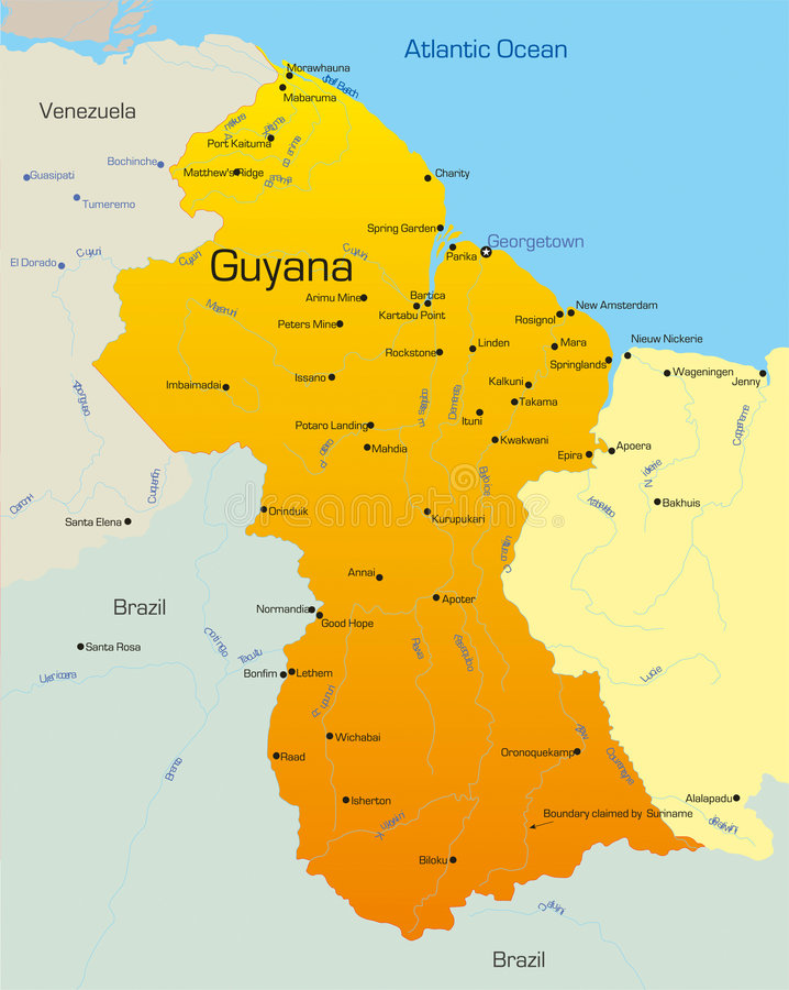 Guyana vektor illustrationer