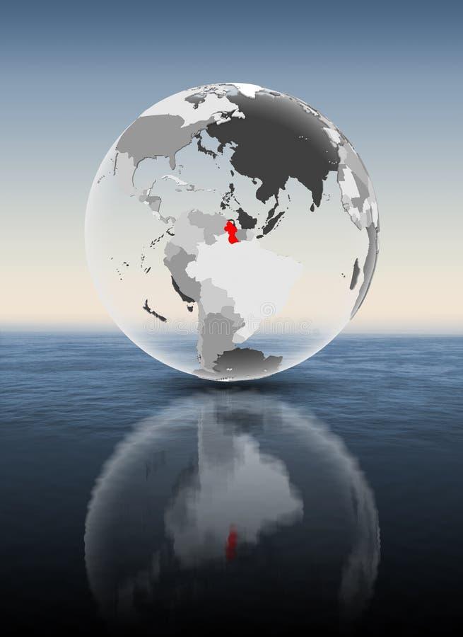 Guyana auf der lichtdurchlässigen Kugel Überwasser lizenzfreie abbildung