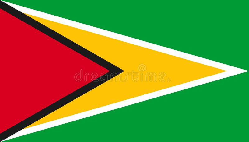 Guyana flag icon in flat style. National sign vector illustration. Politic business concept stock illustration