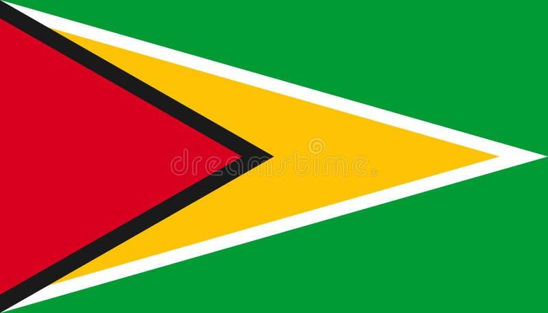 Guyana flaggasymbol i plan stil Nationell teckenvektorillustration Klok aff?rsid? stock illustrationer